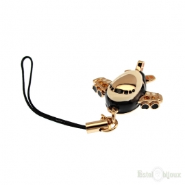 Airplane Gold Plated 18k Pendant Key Chain
