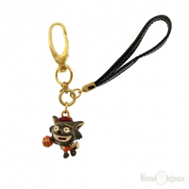 Fox Enamel Gold Plated 18k Pendant Key Chain