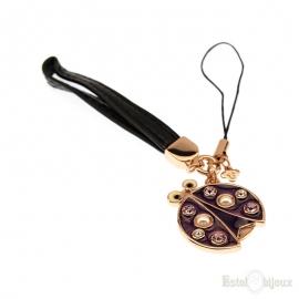 Ladybug Enamel Gold Plated 18k Pendant Key Chain
