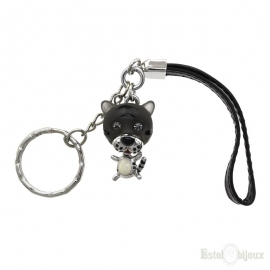 Black Tiger Pendant Key Chain