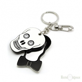 Skull and Mirror Key Chain
