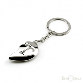 Broken Heart Letter Key Chain