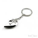 Broken Heart Letter Key Chain