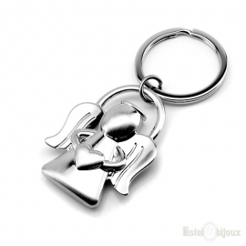 Angel and Heart Key Chain