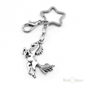 Horse and Star Keychain