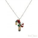 Merry Christmas Candy Cane Necklace