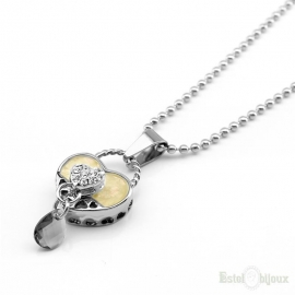Heart Pendant Stainless Steel Necklace