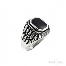 Black Onyx Sterling Silver 925 Ring