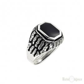 Black Onyx Sterling Silver 925 Ring