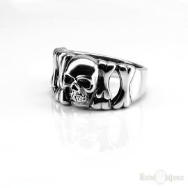 Skull and Bones Sterling Silver 925 Ring