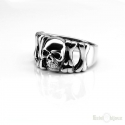 Skull and Bones Sterling Silver 925 Ring