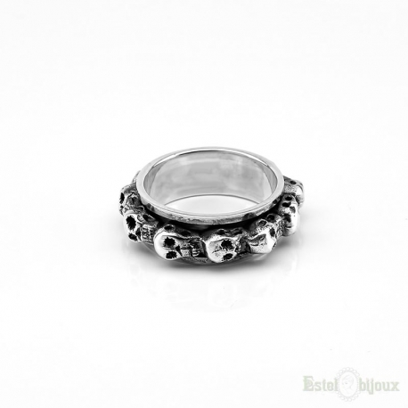 Skull AntiStress Sterling Silver 925 Ring