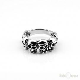 Six Skull Sterling Silver 925 Ring