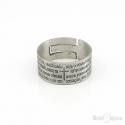 Our Father Prayer Sterling Silver 925 Ring