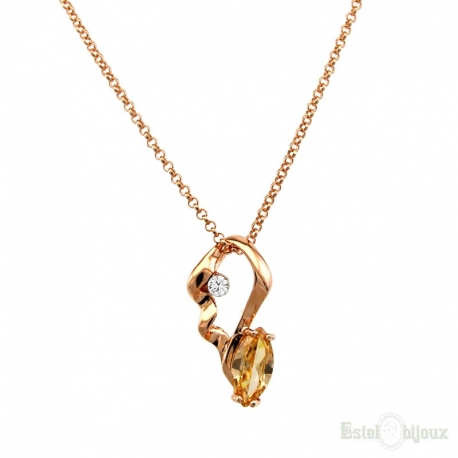 Sunflower Crystal Gold Plated 18k Necklace