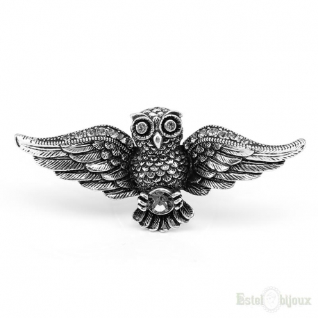 Owl and Crystals Ring
