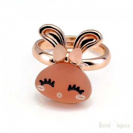 Rose Bunny Ring