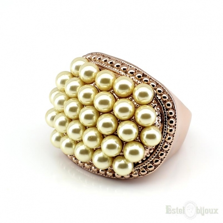 Pearls Gold Plated Ring