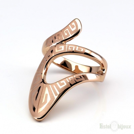 Greek Design Gold Plated Ring