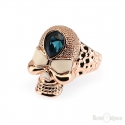 Skull Gold Plated Ring