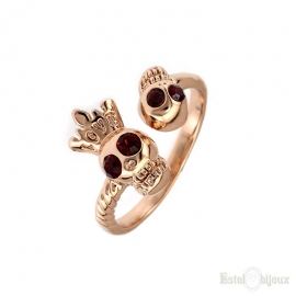 Two Skull and Word Love Ring
