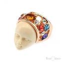 Face Mask Gold Plated Ring