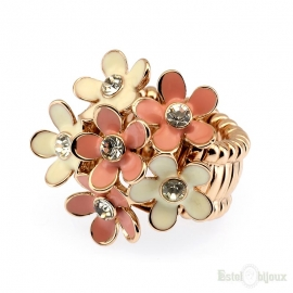 Flowers and Crystals Elastic Ring