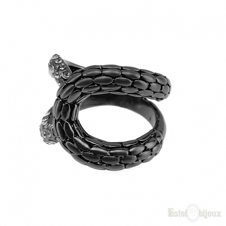 Snake Black Ion Plating Ring