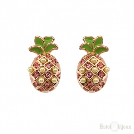 Pineapple Gold Plated Earrings