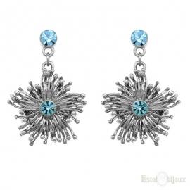 Orecchini Blossom Cristallo Azzurro