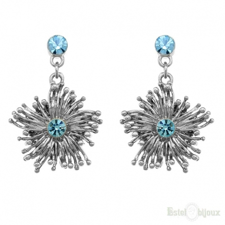 Blossom Azure Crystals Earrings