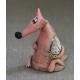 Figurina in ceramica Volpe e Galline