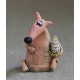 Fox and Chickens Figurine Ceramic