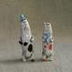 Business Cats Figurine Ceramic