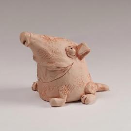 Figurina in ceramica Cane Divertente