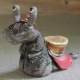 Snail Important Figurine Ceramic