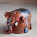 Elephant Figurine Ceramic