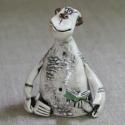 Figurina in ceramica Scimmia Lettore