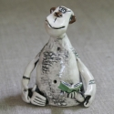 Monkey Reader Figurine Ceramic