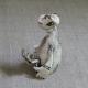 Monkey Reader Figurine Ceramic
