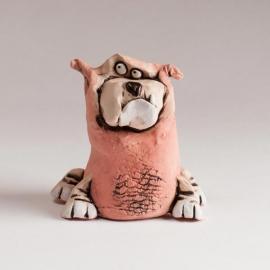 Bulldog Figurine Ceramic