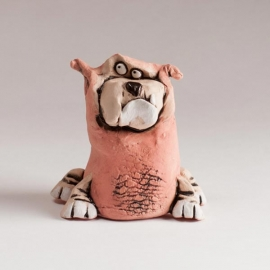 Figurina in ceramica Cane Bulldog