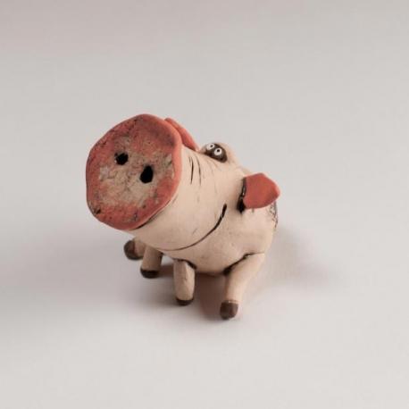 Maialino figurina in Ceramica