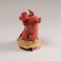 Pig in Skirt Figurine Ceramic
