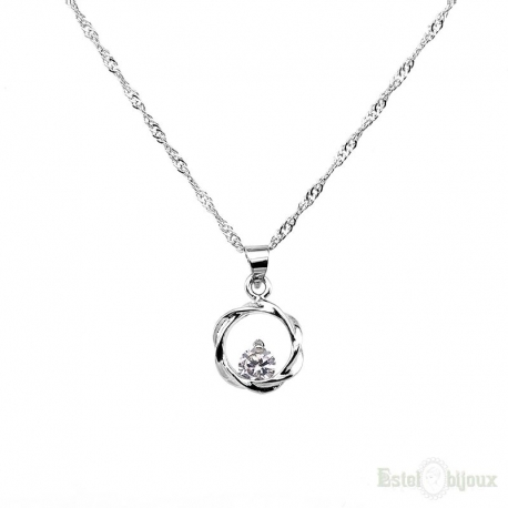 Round Brilliant Cut Necklace