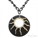 Black and Gold Sun Necklace