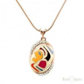 Avant Garde Enamel Necklace
