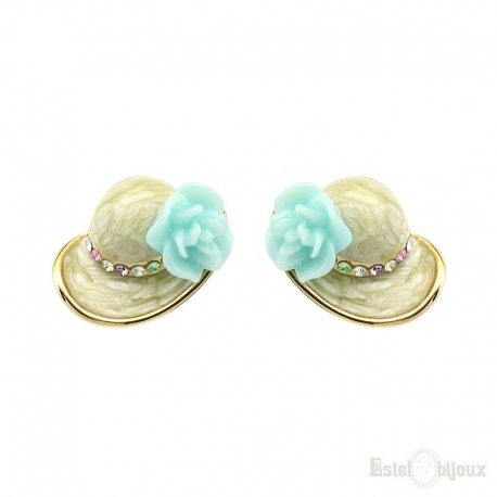 "Earrings ""Hat with flower"""
