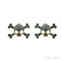 Skull and Strass Earrings