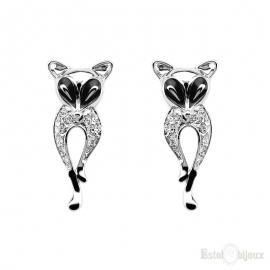 Fox Gold Plated Earrings